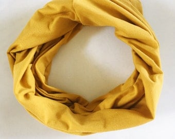 Mustard Yellow Infinity Scarf / Girls Scarf / Boys Scarf / Drool Scarf / Kids Scarf / Children's Scarves
