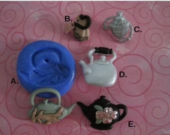Teapot Silicone Mold -  Teapot Mold - Teabag Mold -  Food Safe Molds - Silicone Molds - Fondant Molds - Flexible Molds - Resin Molds