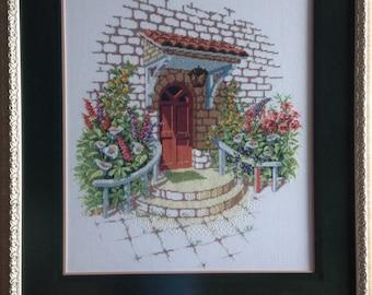 Cross stitch picture - Arch