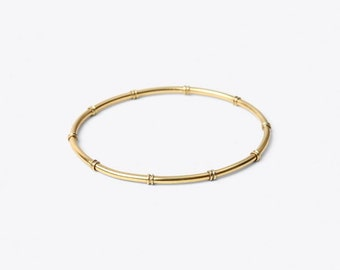 Bamboo Bangle - delicate wristlet, gold plated