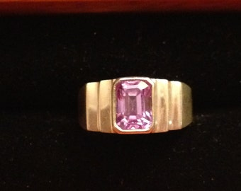 Beautiful sterling silver and Amethyst ring size 6 1/2