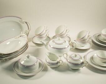 Rosenthal Bavaria tea service, dinner service, 38 pieces, Ph. Rosenthal, 20s, marked 159/2388/39