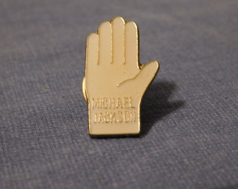 vintage Michael Jackson white glove enamel pin