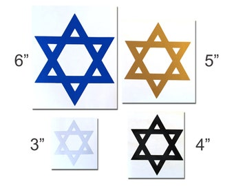 Reflective Star of David Decal