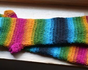 Rainbow arm warmers