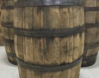 Single Whole 53 Gallon Bourbon Whiskey Barrels