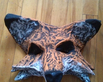 Fox Mask | Paper Mache | Halloween Costume