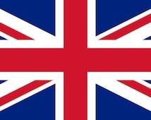 Large Union Jack British Flag Polyvinyl Weatherproof UV Sticker Decal (cars, flat surfaces, indoors outdoors - long long life) 26cm x 18cm