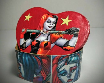 Harley Quinn Jewelry Box / Geek Gift