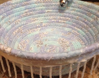 Icicle Fabric Coil Bowl