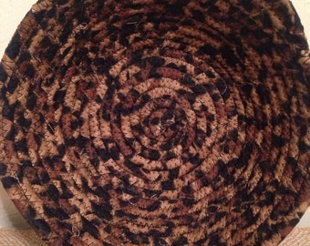 Leopard Fabric Coil Bowl