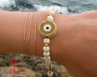 Evil Eye Bracelet, Evil Eye Jewelry, Greek Evil Eye Bracelet, Beaded Evil Eye Bracelet, Evil Eye bracelet For Women