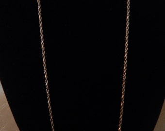 Italian Gold Necklace Vintage 23 inches of 10 KT Gold