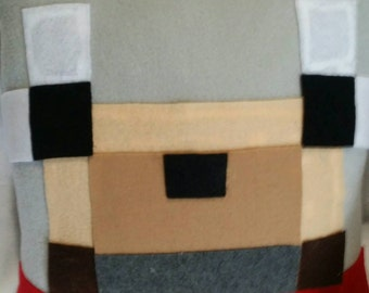 Minecraft wolf pillow