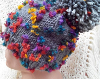 Winter hat with Flowers