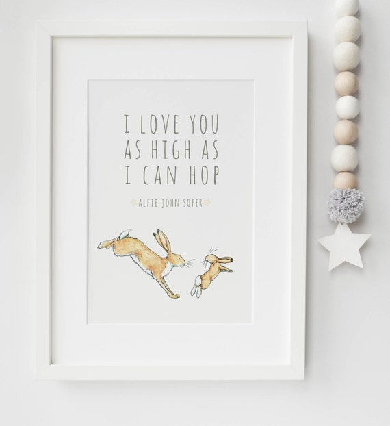Guess How Much I Love You Personalised Baby/Chid Boy/Girl