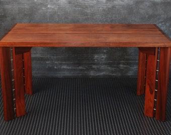 Desk / Solid wood desk / Writing desk handmade / Modern desk wood / Desk for contemporary computing / Designer furniture / Workspace office