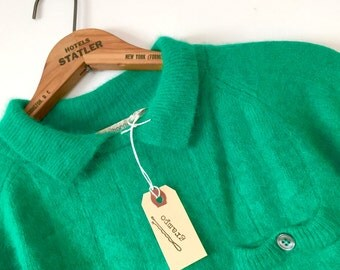 little green wool sweater