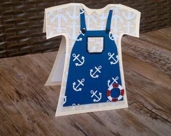 Set of 10 Blue Baby Shower Onesie Invitation, Baby Invitation, Baby Shower Invitation, Baby Boy Blue, Baby Announcement