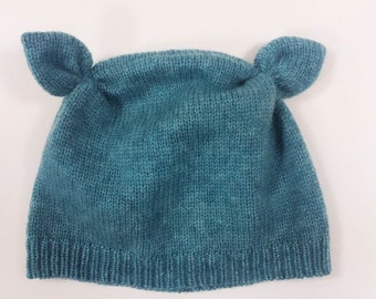 Knitted Baby Hat With Ears (1 year old) *Ready to ship*