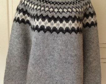Icelandic Wool Sweater-Hand Knitted With 100% Icelandic Wool