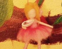 Needle Felted-Waldorf Inspired-Fairy Guardian: Ballerina Fairy