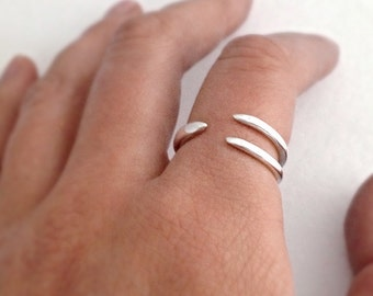 Bird claw ring in sterling silver perfect alternative gift, statement jewellery