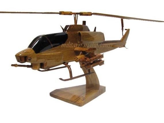 Bell AH-1W USMC Marine Super Cobra Attack Helicopter Mahogany