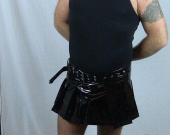Black Vinyl Kilt
