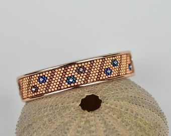 bangle in rosegold - peyote with delica beads