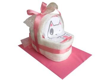 Nappy cakes diaper cake girl diaper carriage diaper basket baptism birth
