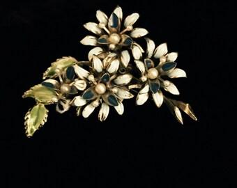 Enamel floral pin