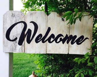Welcome! Reclaimed Wood Fence Art