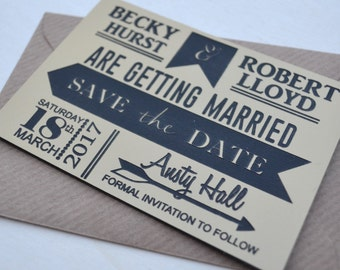 Gold and Black Save the Date Magnets