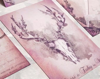 Woodland Stag Wedding Invitation - Invite Suite sample