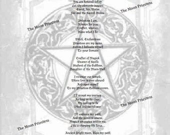 Goddess Rededication Spell ~ Book of Shadows Pages ~ Wiccan ~ Witch ~ Spells ~ Goddess ~ BOS ~ Instant Download