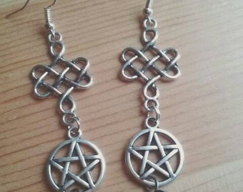 Earrings Celtic - celtic pagan earrings
