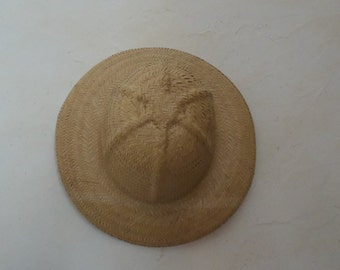 Style straw hat colonial, colonial deco has hanging, home deco, vintage