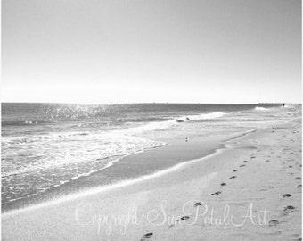 Black and White Print, Beach Decor, Black and White Photograph, Beach Wall Art, Black and White Prints, Fine Art Print, Black, White.