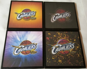 Cleveland Cavaliers Ceramic Tile Drink Coasters