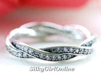 Pandora Sterling Silver Twist of Fate Clear CZ Ring 190892CZ