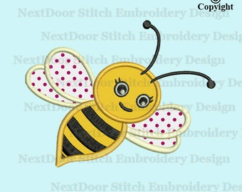 Bumble bee applique download, machine embroidery applique design, bumble bee, cute bee, bee-005