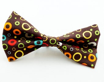 Funky Circles Dog Collar Bow Tie