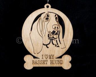 Basset Hound Ornament-Basset Hound Gift-Free Personalization