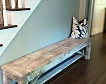 Bench made by hand in usa... 84 inch long