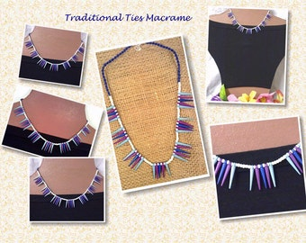 Punky Micro Macrame Necklace