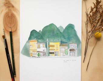 Yang Shuo City Print
