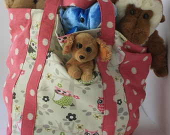 Reuseable Owl Shopping Tote or Bag