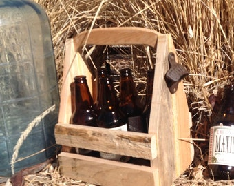 Valentine gifts for him, Beer Tote,recycled beer tote,beer
