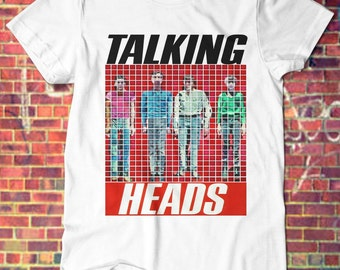 Talking Heads T-shirt Black or White Color